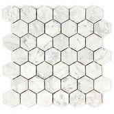 """Found it at Wayfair - Bianco Carrara 2"""" Honey Comb Mosaic Tile"""