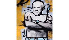 Pablo Picasso Tribute by Massimo Sirelli #popart #pablopicasso  #picasso