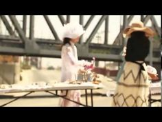 Misha had a tea party in the middle of the road and made a movie about it. Watch!