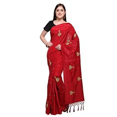 Red Saree With Gold Blouse Satin Saree, Red Saree, Bollywood Saree, Art Silk Sarees, Silk Sarees Online, Georgette Sarees, Floral Print Sarees, Printed Sarees, Gold Blouse