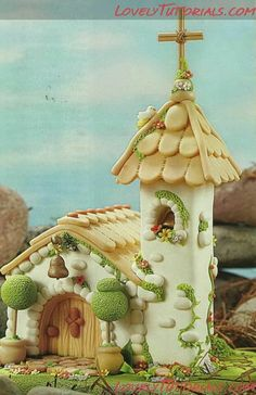 lovely fairy house, polymer clay Recycling