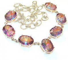 Belinese Garden Magic Topaz Sterling Silver necklace