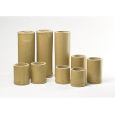 Bamboo Cups Set - Set of 6 bamboo cups in varying sizes, which can be used for water channelling games, water fun or even an outdoor picnic. Smallest cup size 100mm, tallest cup size 150mm.