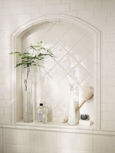 Classic tile shower niche from Crossville.