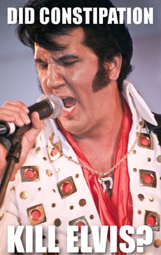 Dr. Oz revealed the stress from constipation may have killed Elvis, stomachs can not explode from eating and the most dangerous food to eat.