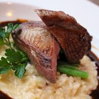 Duck with truffel risotto. Risotto, Steak, Menu, Album, Spring 2015, Food, Menu Board Design, Eten, Steaks