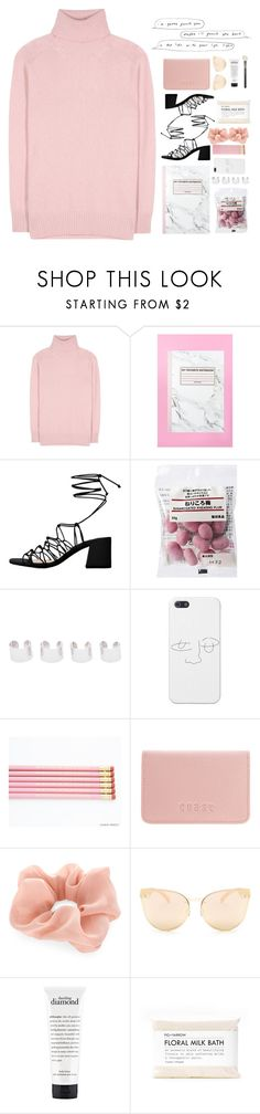 """sad in pink"" by aquaarius on Polyvore featuring Tomas Maier, MANGO, Maison Margiela, Coast, Accessorize, Quay, philosophy, Fig+Yarrow and MAC Cosmetics"