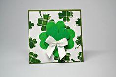 Shamrock Mini Note Cards / Set of 5 St. by MoreFriendsAndCo