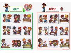 Autismus Arbeitsmaterial: Plakat: Gut oder Böse
