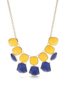 New Directions® Gold-Tone Summer Brights Statement Necklace
