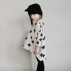Beau Loves AW14 oversized crosses top (Lil' Beans)