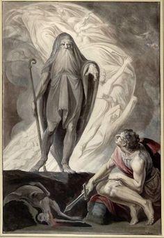 Tiresias appears to Ulysses during the sacrificing Johann Heinrich Füssli Tv Tropes, William Blake, Hades, Occult, British Museum, Underworld, Bob Marley, Street Art, Tumblr
