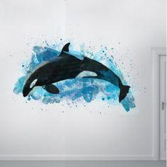 Watercolor Orca Whale https://www.wallbella.com/Artful-Animals/Orca#.UtgxJfaBFyo