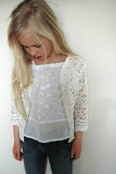Sequin Star Tunic With Lace Cardigan #SweaterKids | For My Kids ...