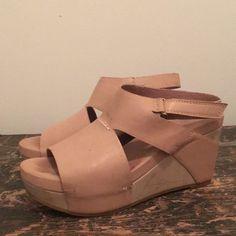 64a35b1e65 Antelope Shoes | Tan Antelope Wedges | Color: Cream | Size: 9 Antelope Shoes