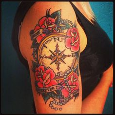 old school compass tattoo - Recherche Google