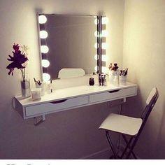DIY ikea vanity ideas - Ikea DIY - The best IKEA hacks all in one place Diy Vanity Table, Ikea Vanity, Bathroom Vanity Decor, Vanity Room, Bathroom Ideas, Ikea Decor, Home Design, Room Inspiration, Diy Home Decor