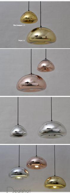 Tom Dixon Void Copper Brass Bowl Mirror Glass Bar Art Modern E27 LED Pendant Lamp Hanging Wire Lighting chandelier Lights 30CM-inPendant Lights from Lights & Lighting on Aliexpress.com | Alibaba Group