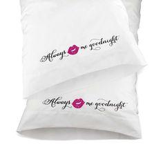 Hortense B. Hewitt Kiss Me Good Night Pillowcases