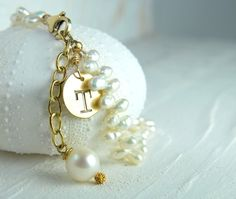 Personalized Gifts for Her Initial Pearl by LillyputLaneDesignCo, $58.00