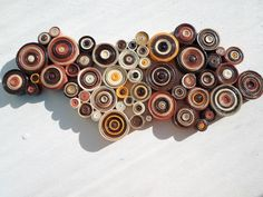 Wall decoration Modern wall hanging  Rustic home decor Paper wall art