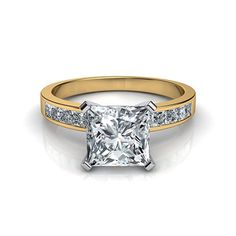 1000 images about princess cut engagement rings with side