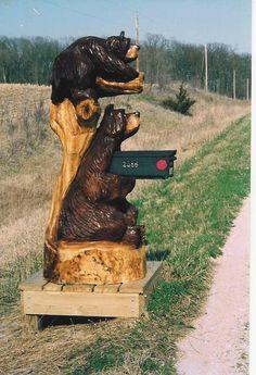 *Bear mailbox*