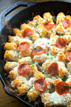 You'll No Longer Dial for a Pizza Delivery When You Can Whip Up This Tasty Tater Tot Pizza Casserole
