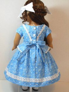 1850's Dress and Hair Bows for MarieGrace by ThreadsOfTroy on Etsy