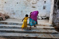 indian grandmother and child- Steve Mcurry