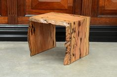 Funky Natural Edge Lamp Tables available in West Australian Marri, Blackbutt and Jarrah.