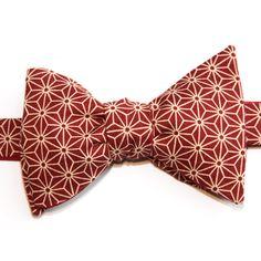e173b0eebb5d2 Nœud papillon Asanoha Bordeaux Burgundy Asanoha Japanese bow tie Japanese  Cotton, Bow Ties, Pocket. Le Colonel Moutarde