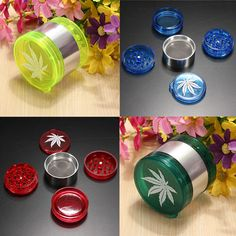 2015 New Leaf Design Herbal Herb Tobacco Grinder Smoke Crusher Hand Muller 5 Layer  1NYK 594A #Affiliate