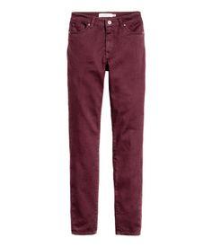 Slim-fit Pants | Burgundy | Ladies | H&M US $24.99 (ankle length)