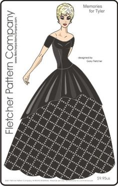 sewing pattern for the Tyler Wentworth doll by Tonner Black Tie Affair