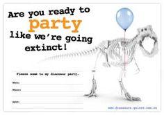 Free Printable Dinosaur Birthday Party Invitation Designs – Dinosaurs Galore