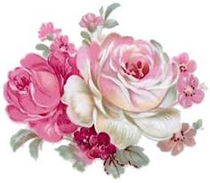 So SWeET~~PinK & IVoRy RoSe BuNcHeS ShaBby WaTerSLiDe DeCALs in Tole Decals & Transfers | eBay