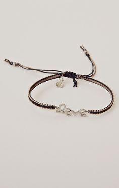 Braided Silk Cord Bracelet