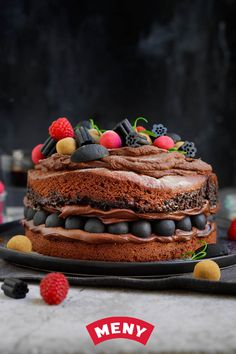 Recipes From Heaven, Oslo, Diy For Kids, Chocolate Cake, Tapas, Cravings, Minecraft, Foodies, Cake Decorating