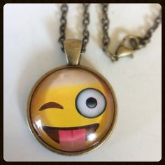 Emoji Necklace New!  This makes a good bundle piece item. Bundle and get a discount *PLUS* one shipping fee! Jewelry Necklaces