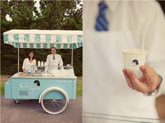 for desserts! See if you can tent a vintage cart like this and use for your desserts at your wedding reception. It is a creative and unique idea. You can have an ice cream bar or just your cake served from here. Cute minus the umbrella, with a nice table with yummy treats and toppings.