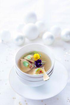 Ravioles de foie gras au bouillon épicé ©Fraise & Basilic