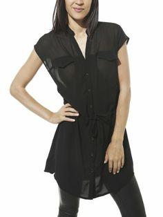 Arden B. Women's Drop Waist Tunic S Black