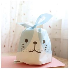 9x 3 clear cellophane gift bags easter eggs food sweet cute dog easter rabbit cello cellophane party wedding favour biscuit gift bags negle Gallery