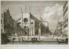 Plazza San Giovanni e Paoli - Antonio Visentini | Cityscape Art Prints, State Hermitage Museum
