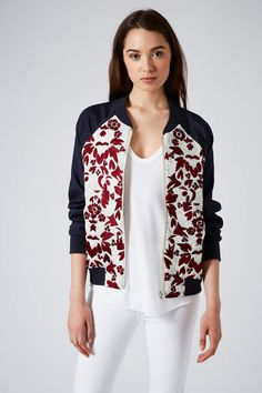 Embroidered Bomber Jacket - New In This Week - New In - Topshop Europe