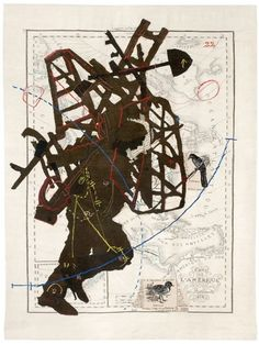 William Kentridge. Porter Series: Amerique septentrionale (Bundle on Back), 2007. Tapestry weave with embroidery