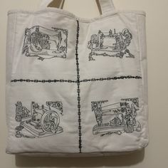 Machine Embroidered Tote other side