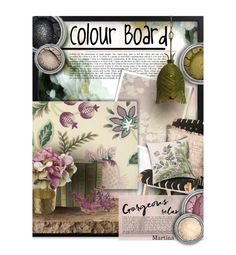 """""""Colour Board"""" by thewondersoffashion ❤ liked on Polyvore featuring interior, interiors, interior design, home, home decor, interior decorating, Casadeco, Essie, Laura Ashley and Trilogy"""
