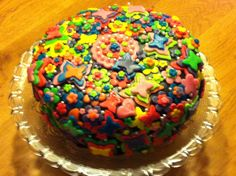Home made birthday cake, tasted great!